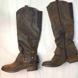 Curfew Brown Natalie Riding Tall Boot Size 6